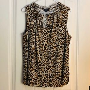 Limited Cheetah Sleeveless Blouse
